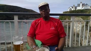 "Enjoying ""Doc Martin's Pub"" Cornwall, England"