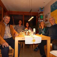 Me and my family near Hamburg, Germany, with the house owners. We lived with them for several days and received a lot of positive emotions