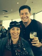 Bob and Fara - Guinness Brewery tour