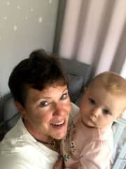 Vicki with her great neice.