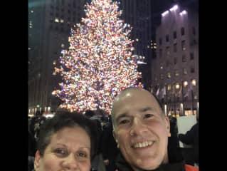 Enjoying NYC during Christmas.