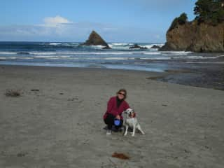 This is me with our dog, Duke.  Duke is a rescue.