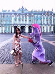 These creatures live at the Hermitage in Saint Petersburg.  They are hilarious!