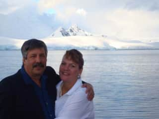 Don and Jan in Antartica