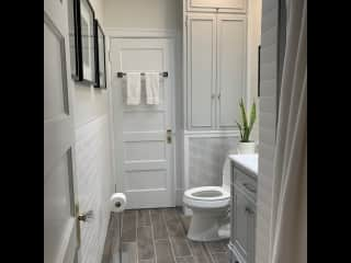 One of two bathrooms recently renovated