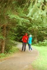 Hiking at Kakabeka Falls, Ontario Canada.
