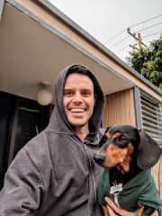 Walks with Willy the Weiner Dog (California)