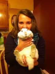 My rabbit, Luna, who passed away last year.