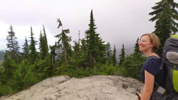 Hiking in the mountains of North Vancouver