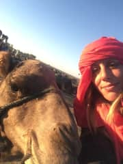 Me in the desert with a camel
