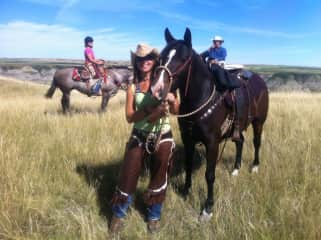 A day out riding with my horse Sadie