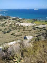 View from the top of the Amathounta ruins. 5 minutes from the house.