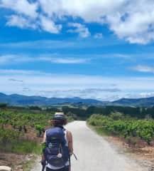Ricki in Spain walking the Camino de Santiago