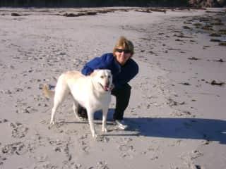 At 'dog beach', Carmel, CA