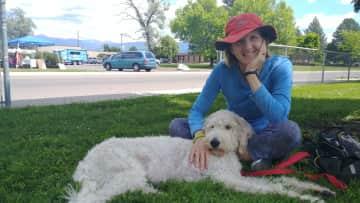 My dog and I when housesitting in Missoula Montana 2018