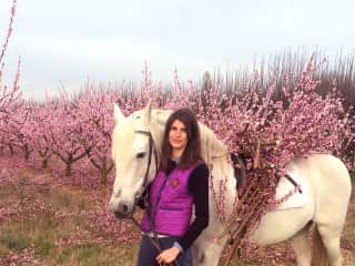 Alessandra and Tormento, her horse