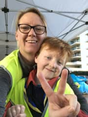 Volunteering with Jasper's scout group....