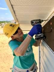 Terri volunteering in Sebring, Florida.