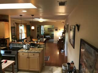 Partial view of Kitchen, Dining Room and Living Room