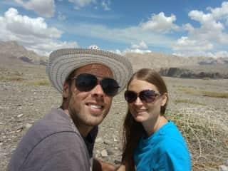 David and Marta travelling in Xinjiang.