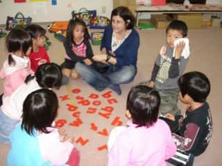 Marci Teaching in Japan