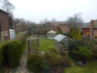 Looking down the back garden
