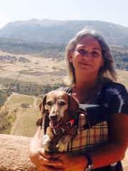 Jess pet sitting in Spain