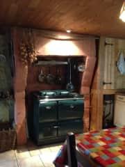 Solid fuel Stanley Range in the Kitchen