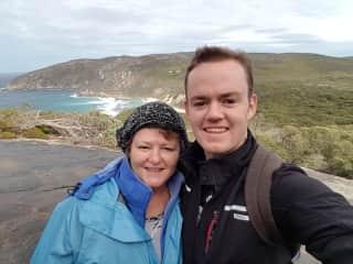 Hiking with my son Sam, in Albany Western Australia