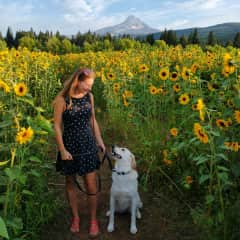 Pauline and Daisy during a sit in Oregon