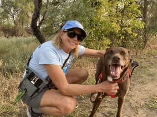 We love to hike, walk, bike ... preferably with a dog(s) leading the way!