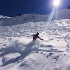 I love skiing, we usually go to Verbier in Switzerland