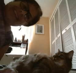 Marci and Feline Friend