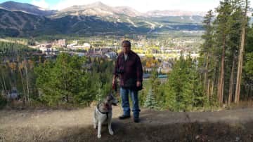 Jim and Rosie in Colorado
