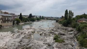 A river, where I like to sit or walk along