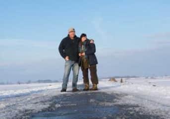 us on a winter walk