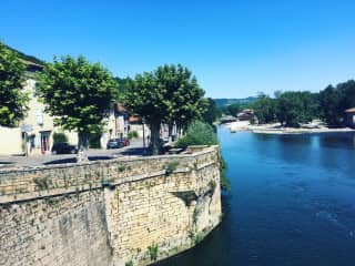La Garonne - the river is a 5 second walk from our front door