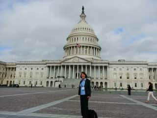 Here I am on my way to meetings on Capitol Hill