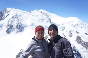 Us hiking in the Alps