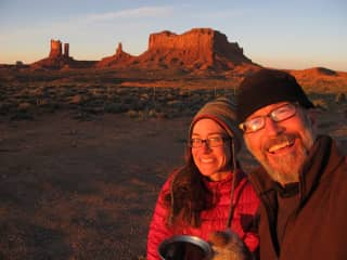 Michelle and Rob in Monument Valley, Utah