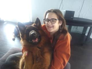 My daughter Hailey with her boy Romeo