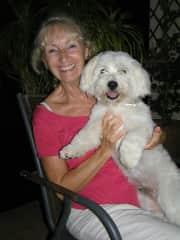 Dewey - a friends dog - we were his weekend hotel!