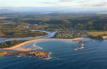 Our town, beaches and river