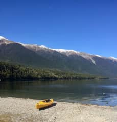 Kayaking in another national park