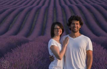 Ashlee and Kfir in Provence