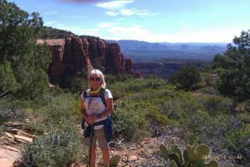 Carol hiking in Sedona