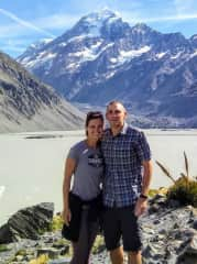 Kristen and Scott after a hike to Mt. Cook (New Zealand)