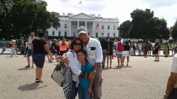 Arturo & Nereyda with granddaughter Ella on visit to DC