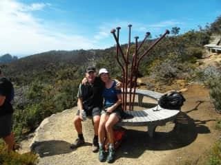 Bruce and Jane trekking in Tasmania