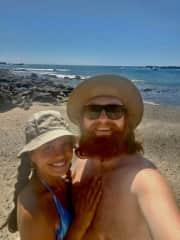 at the beach in Costa Rica